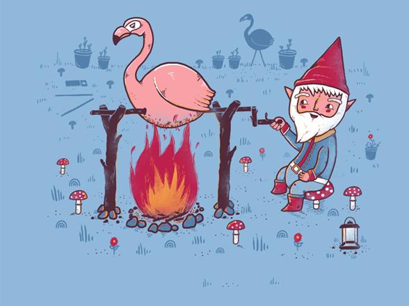 Gnome Garden T Shirt