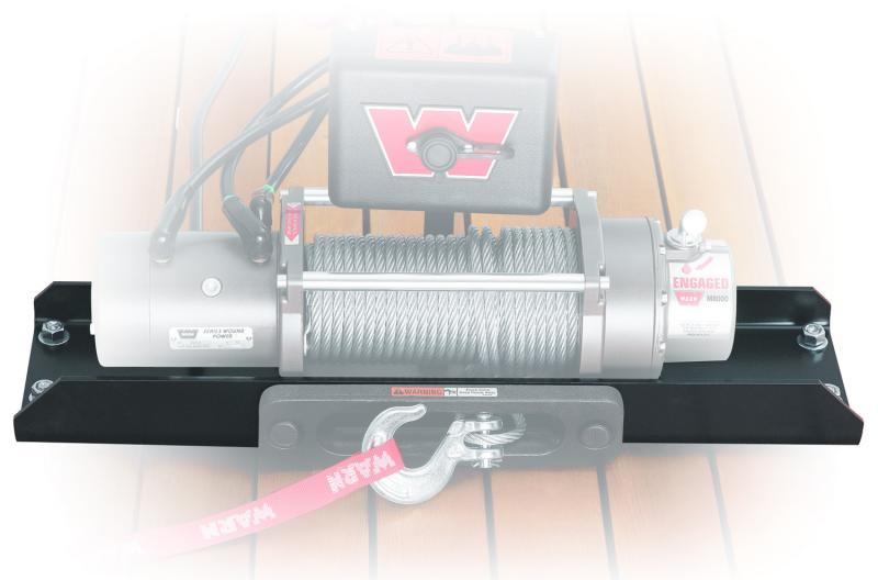 Warn For Use with M12 and M8274-50 Winches; Fixed Mount; Powder Coated; Black; Steel
