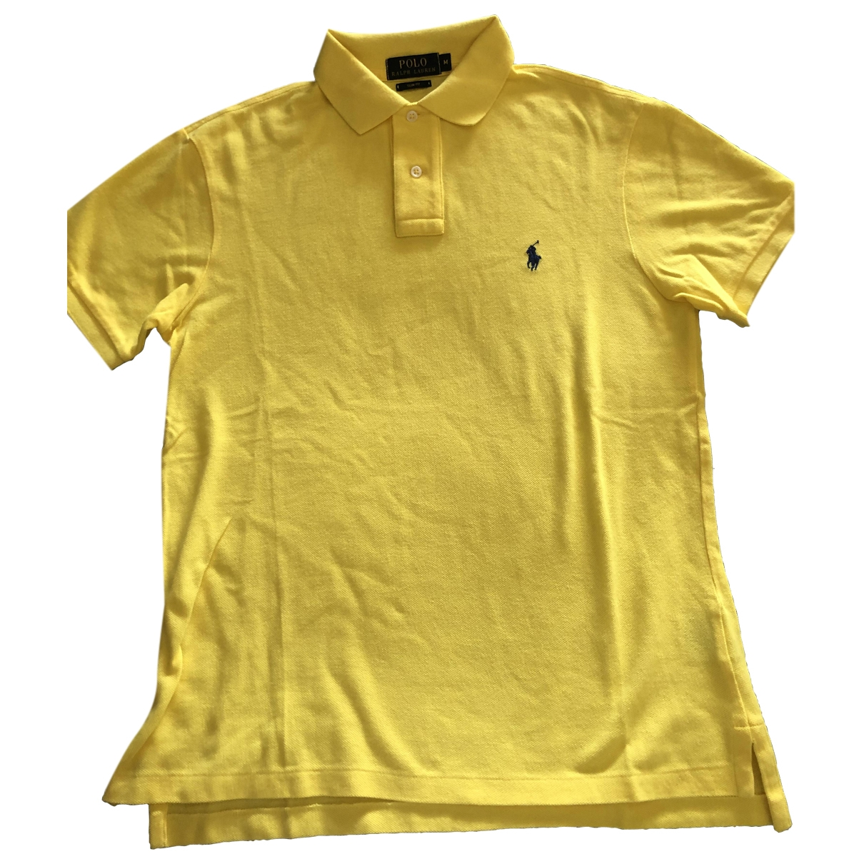 Polo Ralph Lauren \N Yellow Cotton Polo shirts for Men M International