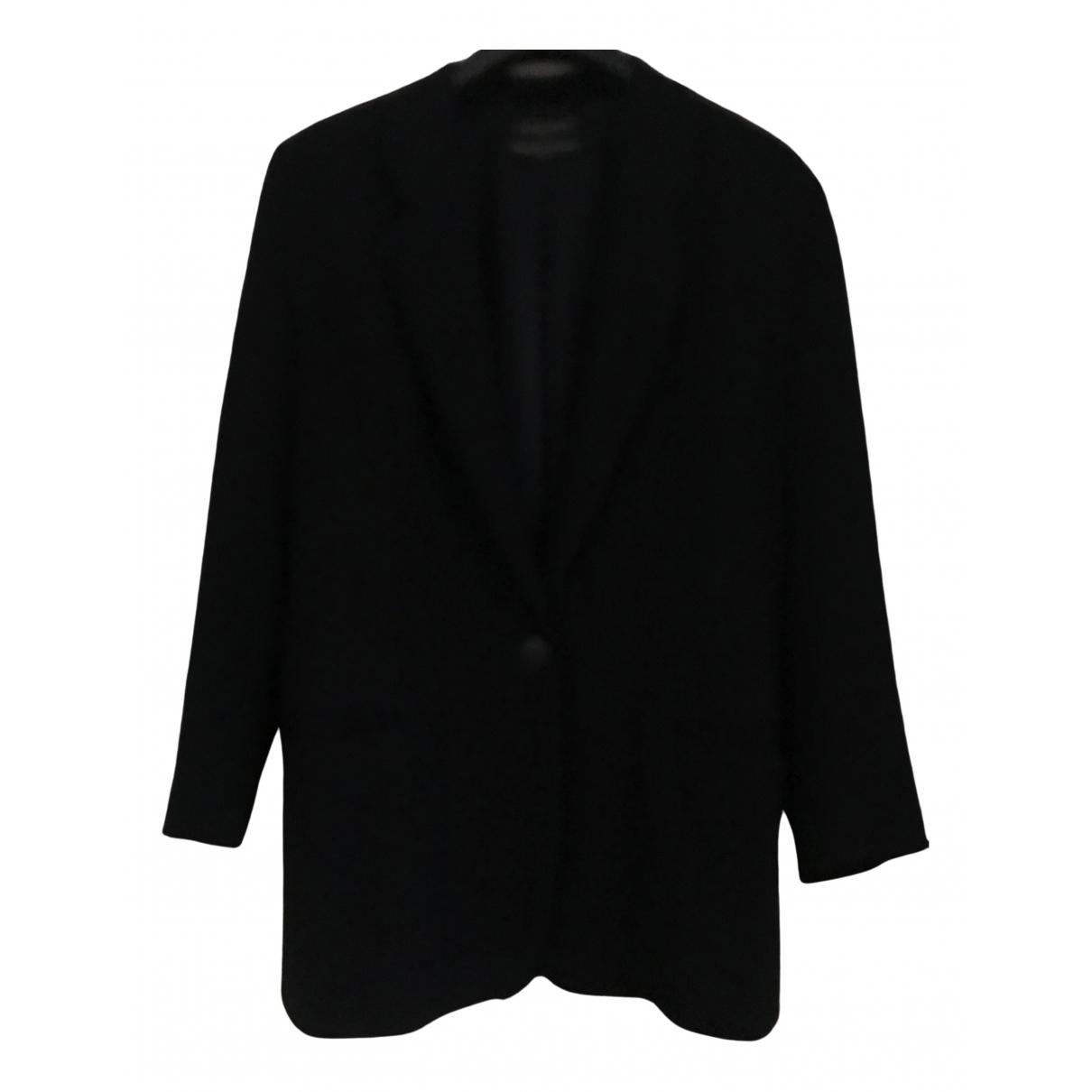 - Veste Oversize pour femme en laine - bleu
