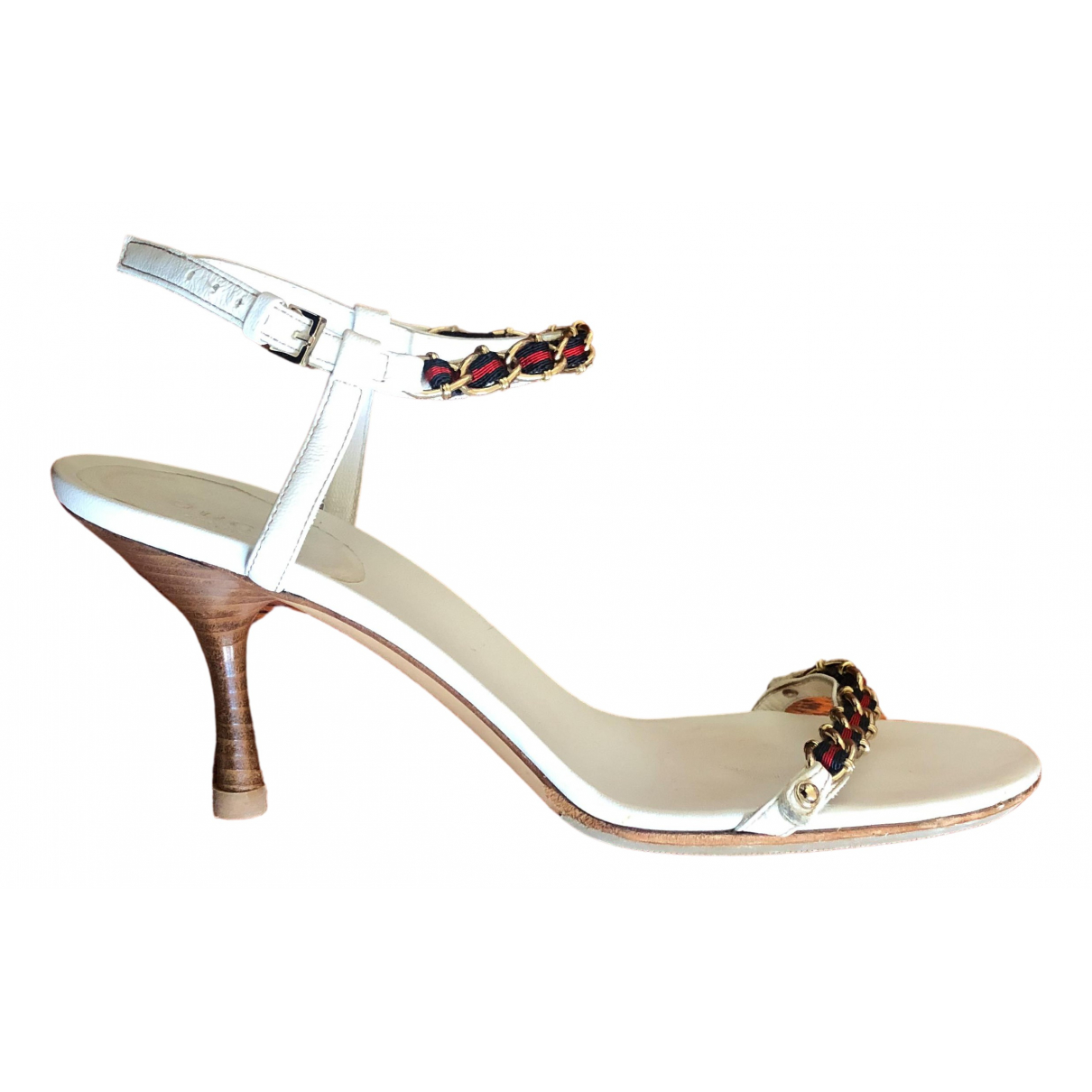 Gucci \N White Leather Sandals for Women 37 IT