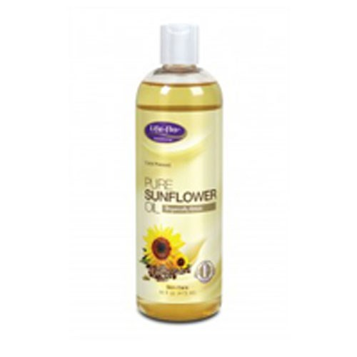 Pure Sunflower Oil 16 oz by Life-Flo