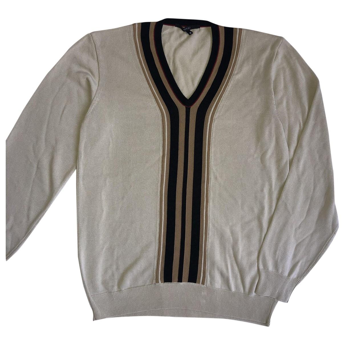 Gucci \N Pullover.Westen.Sweatshirts  in  Beige Baumwolle