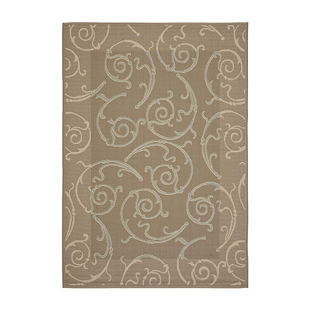 Safavieh Courtyard Collection Hoyt Floral Indoor/Outdoor Area Rug, One Size , Beige