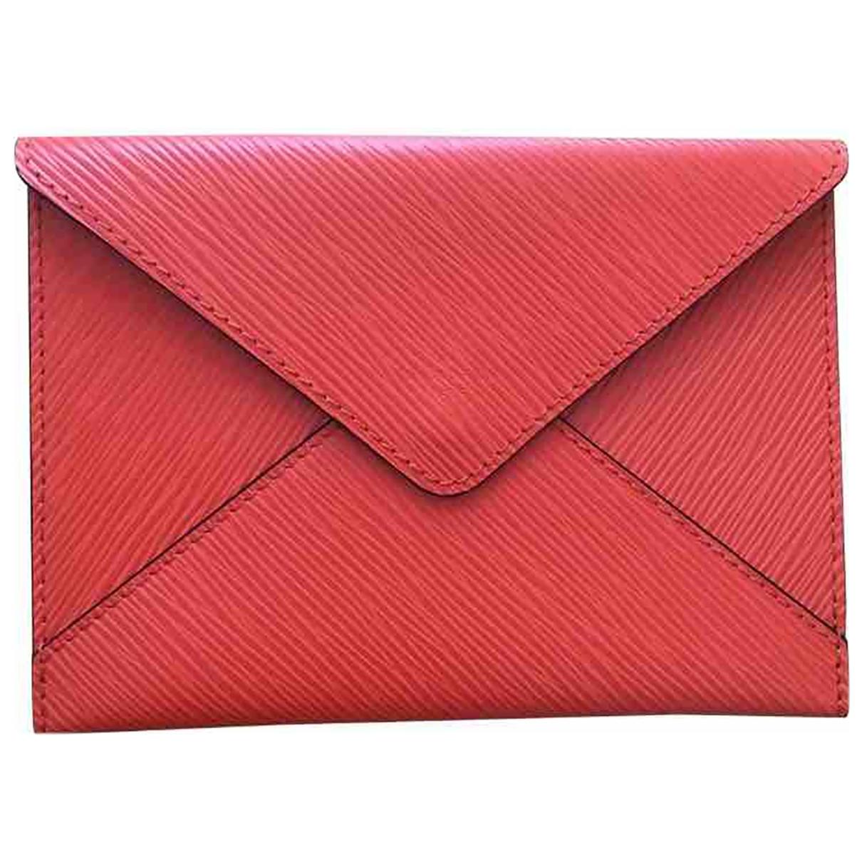 Louis Vuitton - Pochette   pour femme en cuir - orange