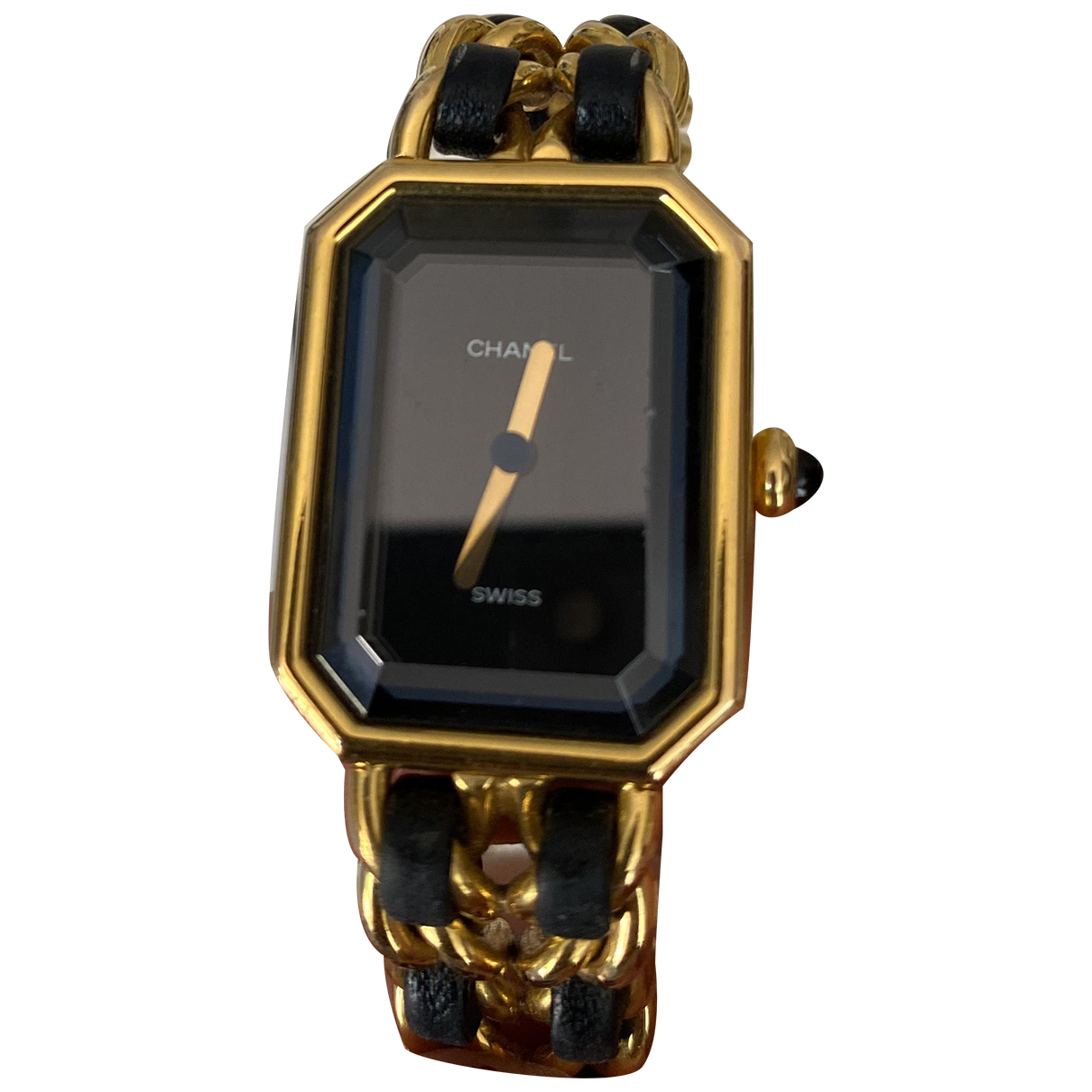 Chanel Premiere Uhr in  Schwarz Vergoldet