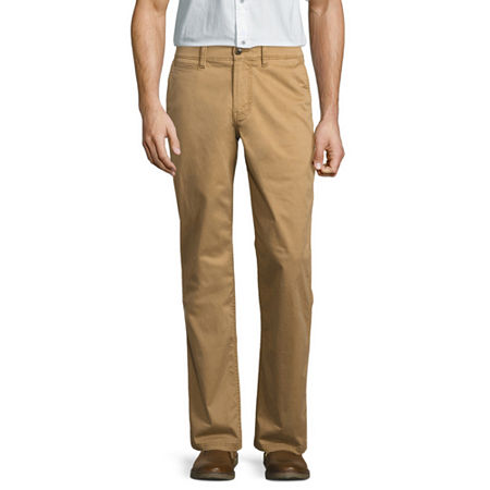 St John's Bay Comfort Stretch Power Chinos, 32 30, Brown