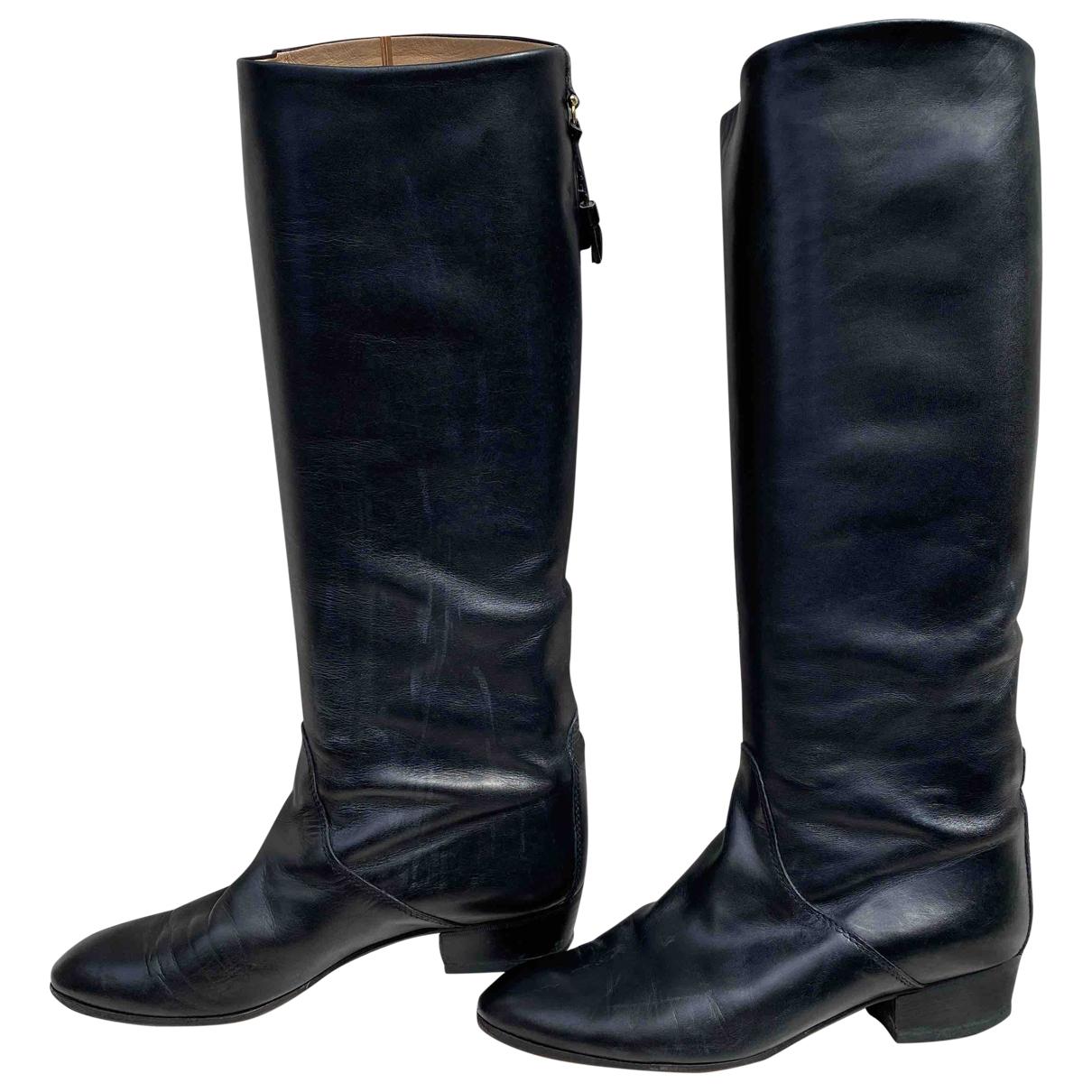 Russell & Bromley - Bottes   pour femme en cuir - noir