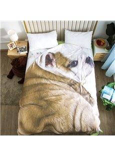 Shar Pei Dog Animal Shaped 3D Washable Light Summer Quilt