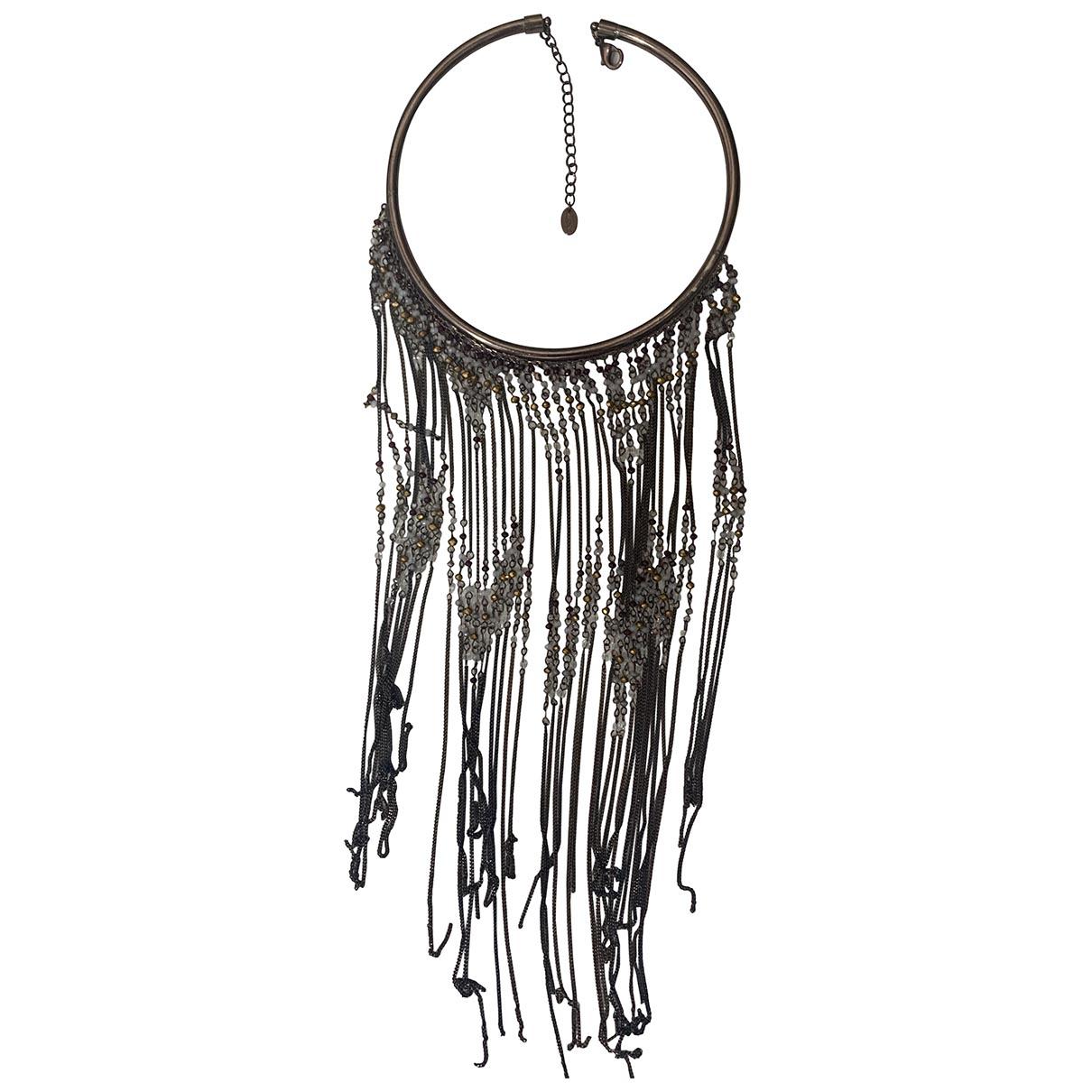 Zara \N Brown Metal Long necklace for Women \N