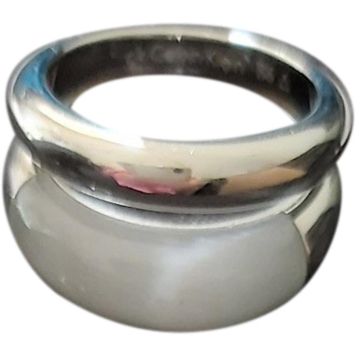 Calvin Klein \N Ring in  Weiss Stahl