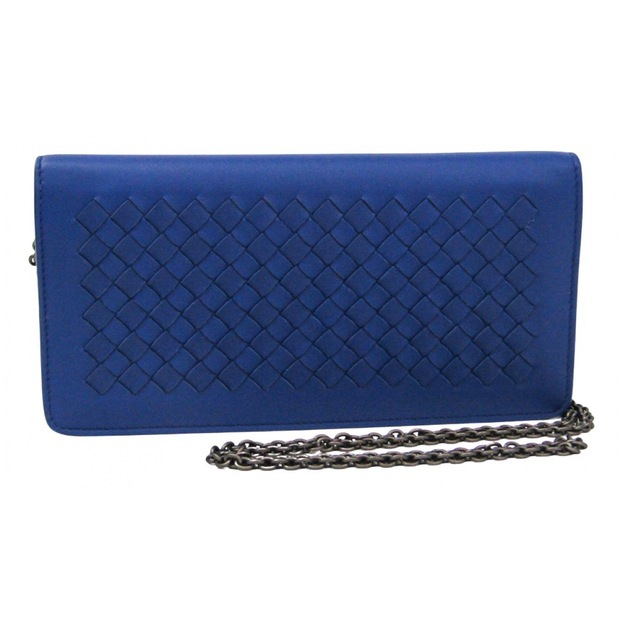 Bottega Veneta \N Clutch in  Blau Leder