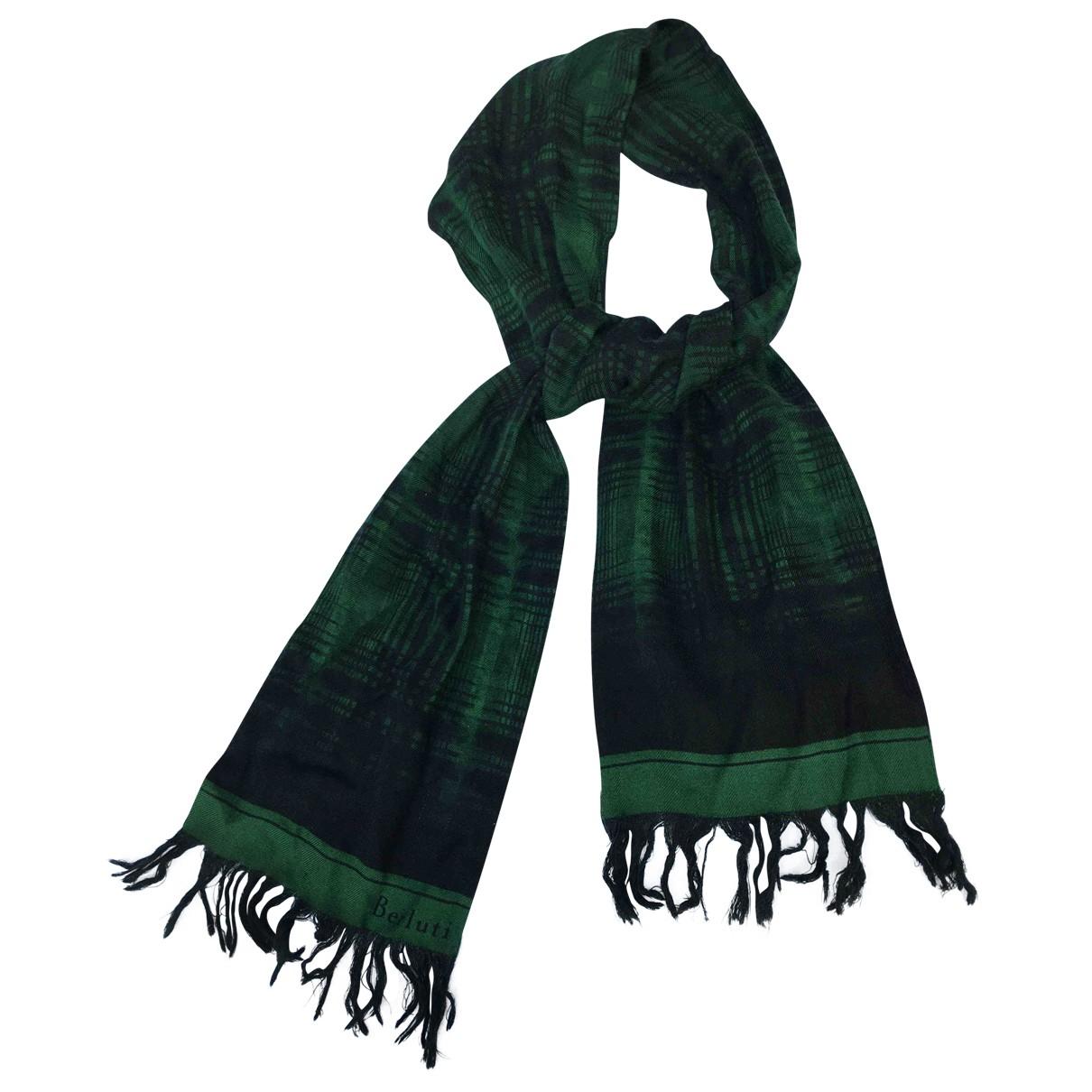 Berluti \N Green Cashmere scarf & pocket squares for Men \N