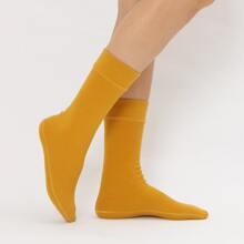 Plain Warm Crew Socks