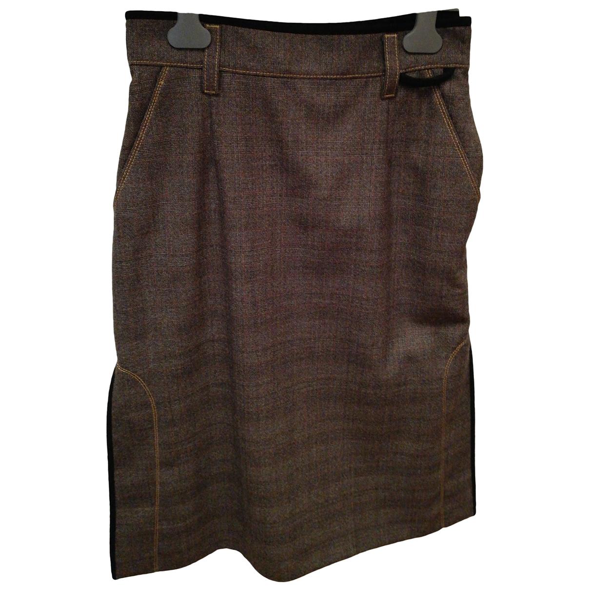 Prada - Jupe   pour femme en laine - marron