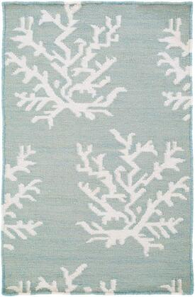 BDW4010-58 5' x 8' Rug  in Aqua and