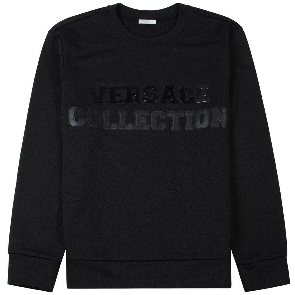 Versace Collection Graphic Logo Sweatshirt Black  Colour: BLACK, Size: LARGE