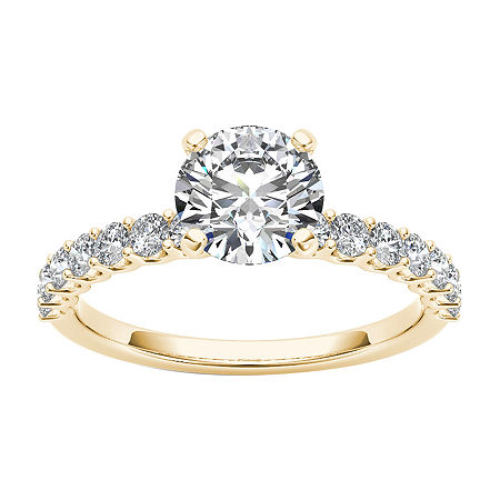 Womens 1 CT. T.W. Round White Diamond 14K Gold Engagement Ring, 8 , No Color Family