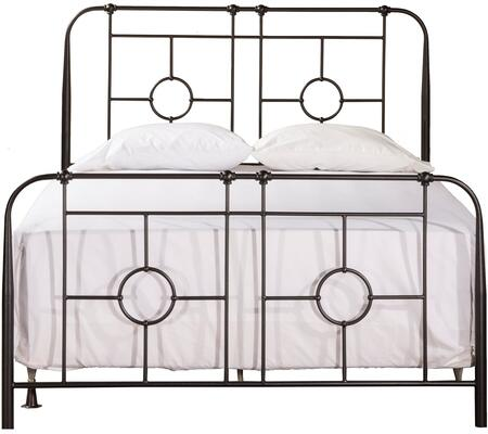 Trenton Collection 1859BFR Full Size Bed with Headboard  Footboard  Rails  Open-Frame Panel Design  Small Round Castings and Metal Construction in