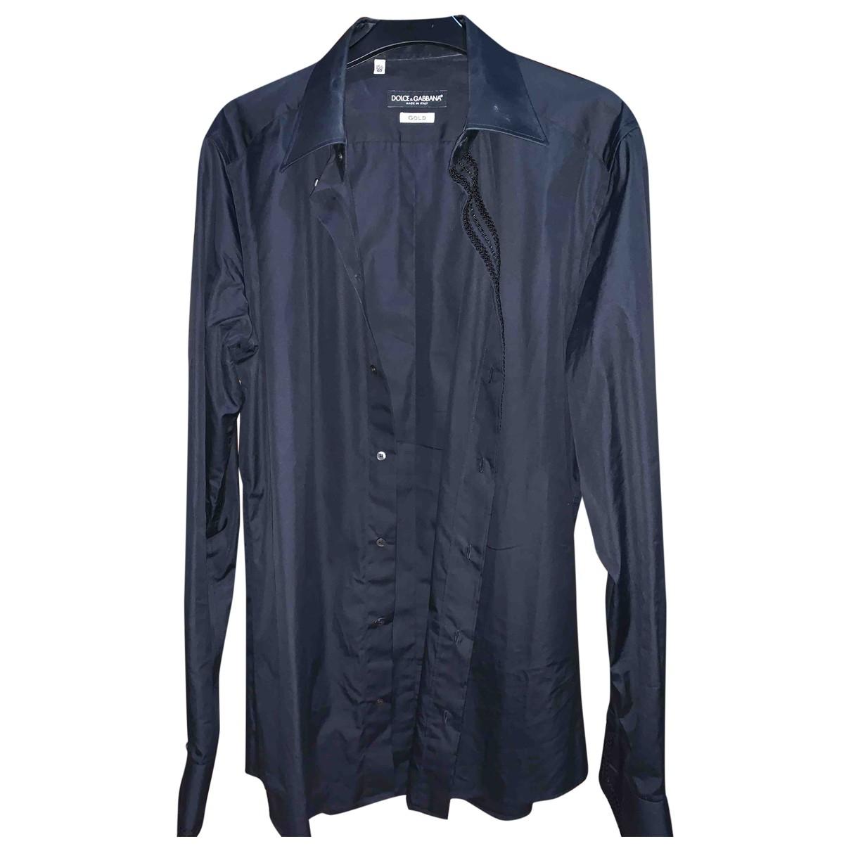 Dolce & Gabbana - Chemises   pour homme en coton - noir