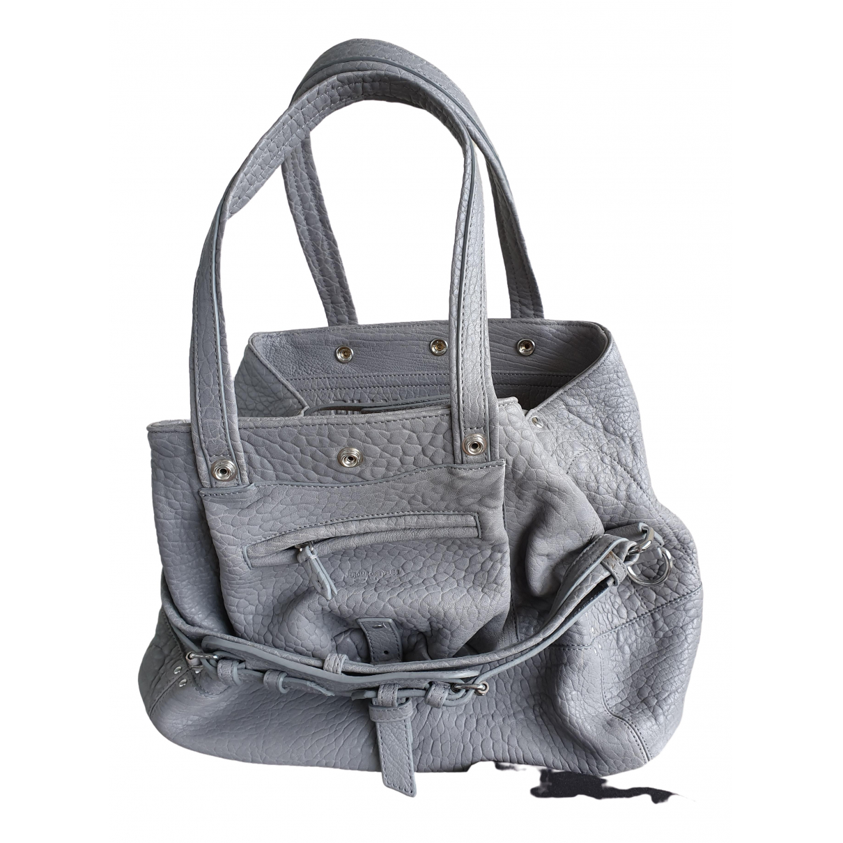 Jerome Dreyfuss Billy Grey Leather handbag for Women \N