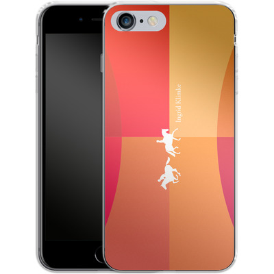Apple iPhone 6s Plus Silikon Handyhuelle - Geometric Silhouette von Ingrid Klimke