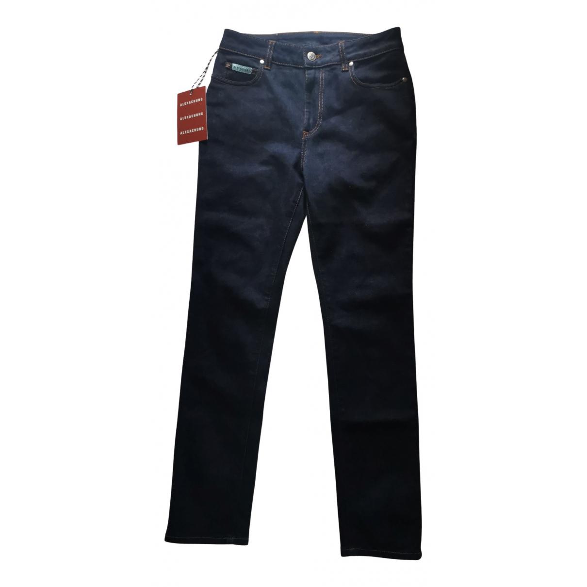 Alexa Chung N Blue Cotton - elasthane Jeans for Women 28 US