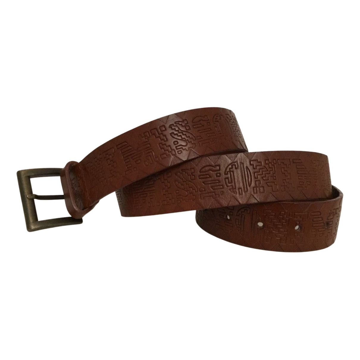 Missoni N Brown Leather belt for Men 90 cm