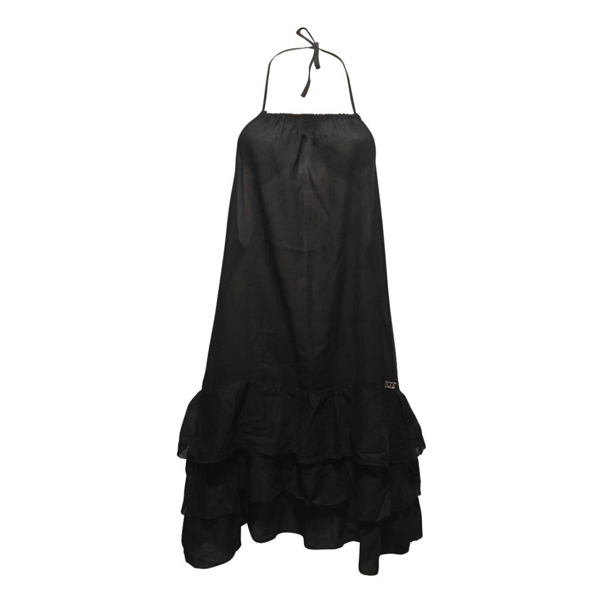 Dior \N Kleid in  Schwarz Baumwolle