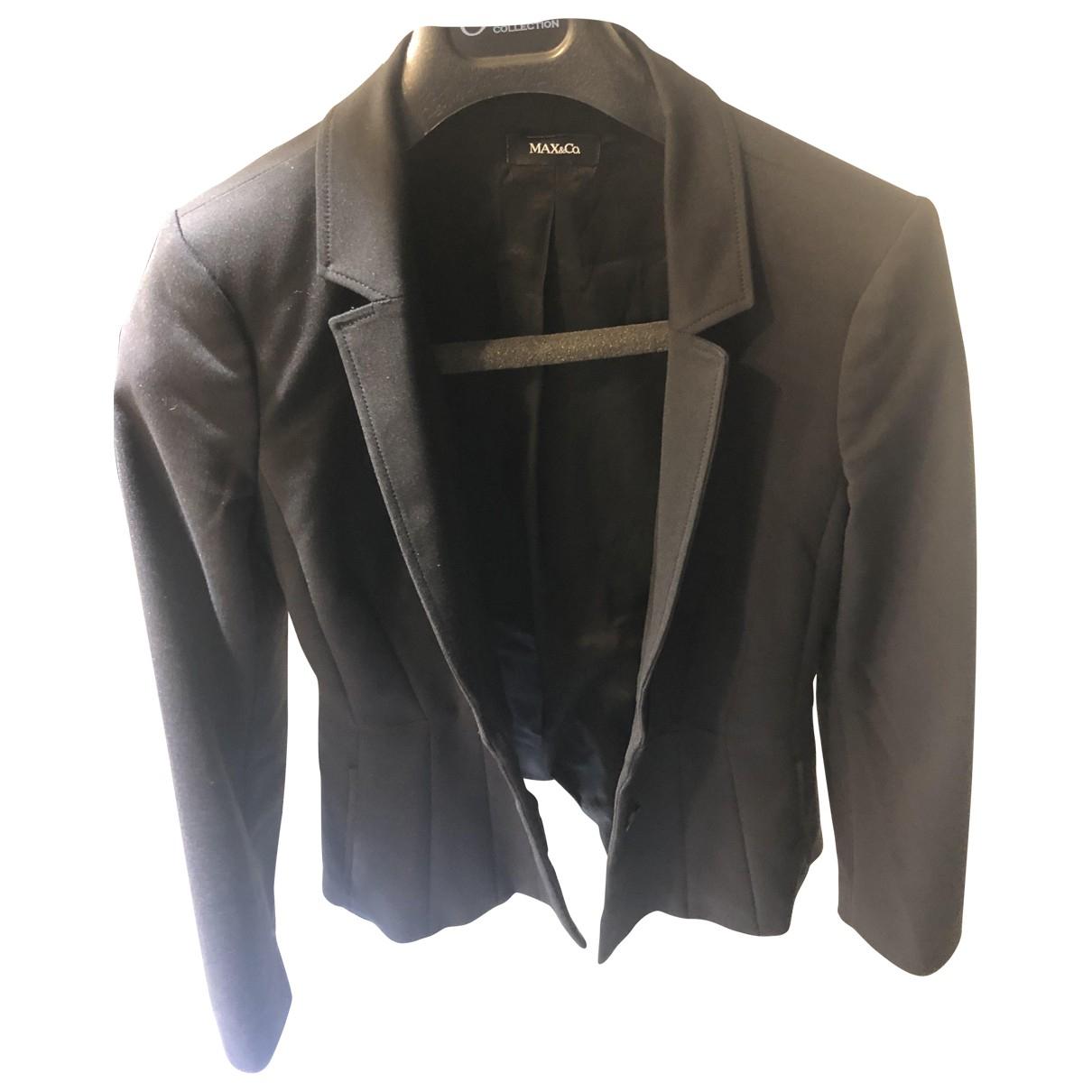 Max & Co - Veste   pour femme en coton - noir