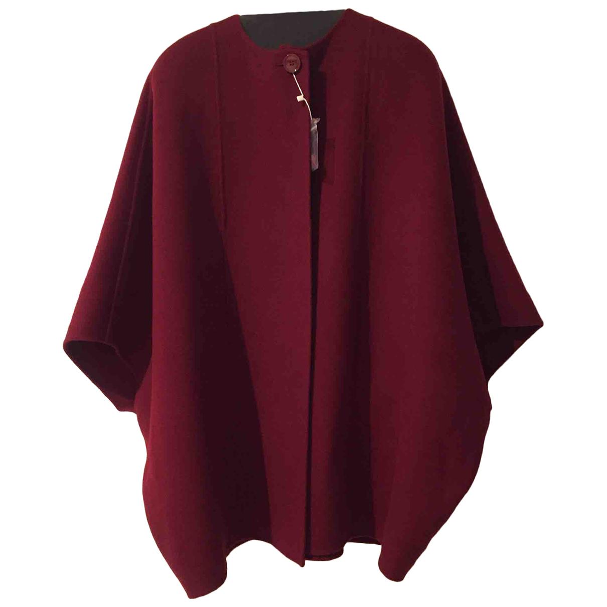 Max Mara - Manteau   pour femme en laine - bordeaux