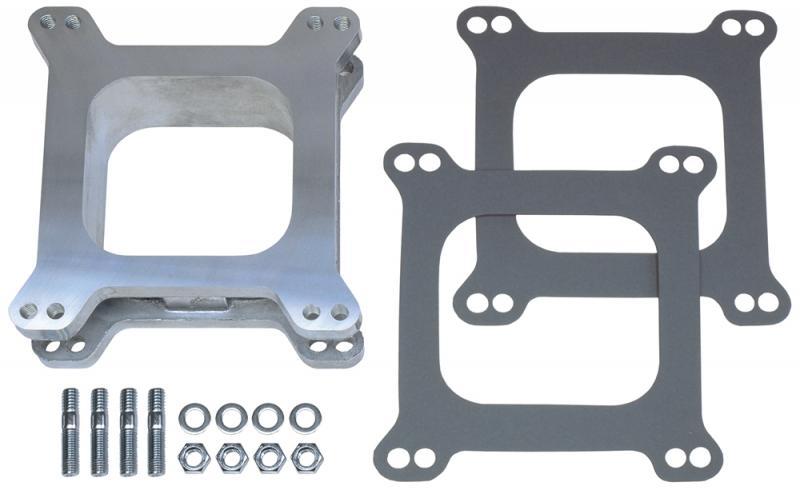 Trans-Dapt Performance 2081 2 in. Tall, HOLLEY/AFB 4BBL SPACER -Open- CAST ALUMINUM Carburetor Spacer