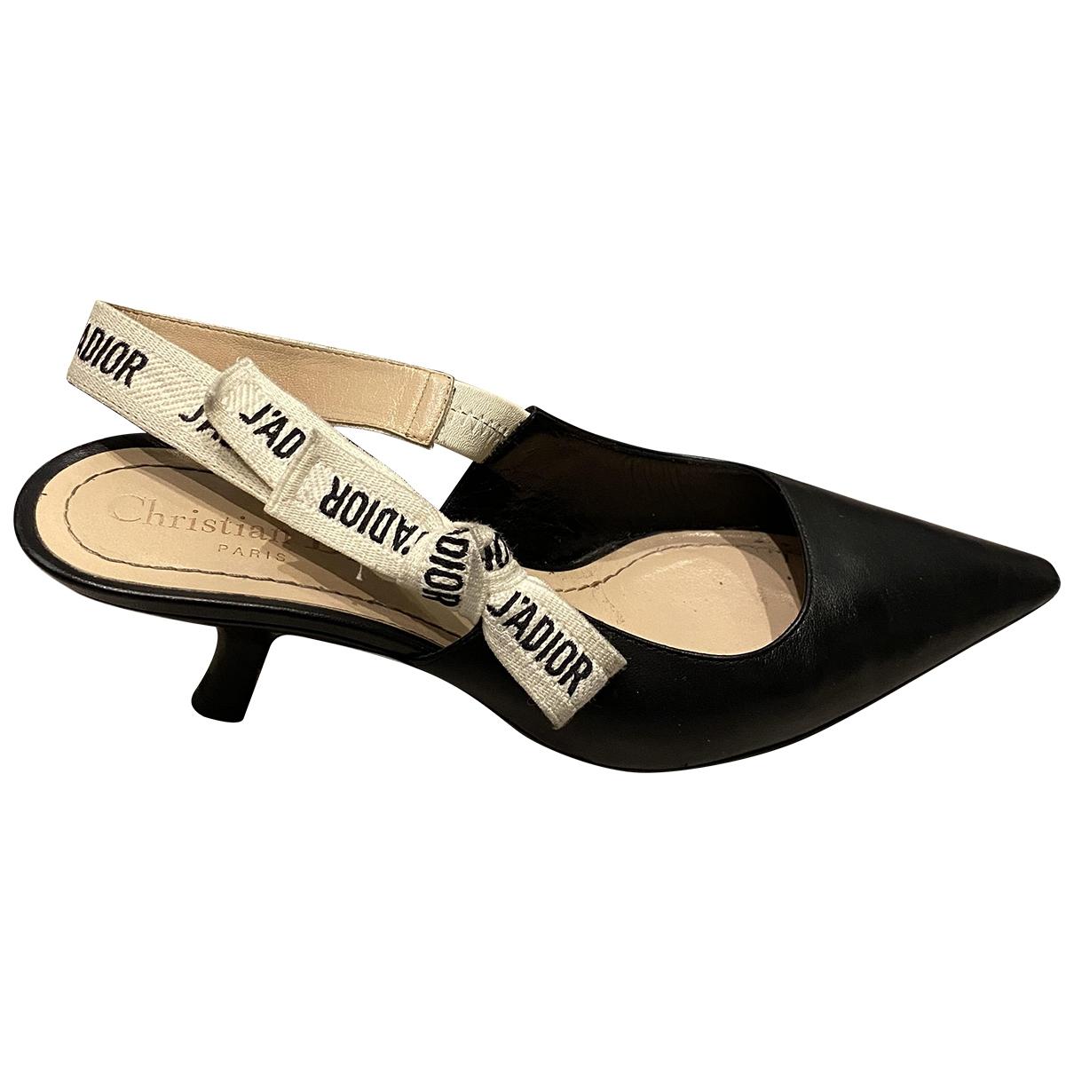 Christian Dior \N Pumps in  Schwarz Leder