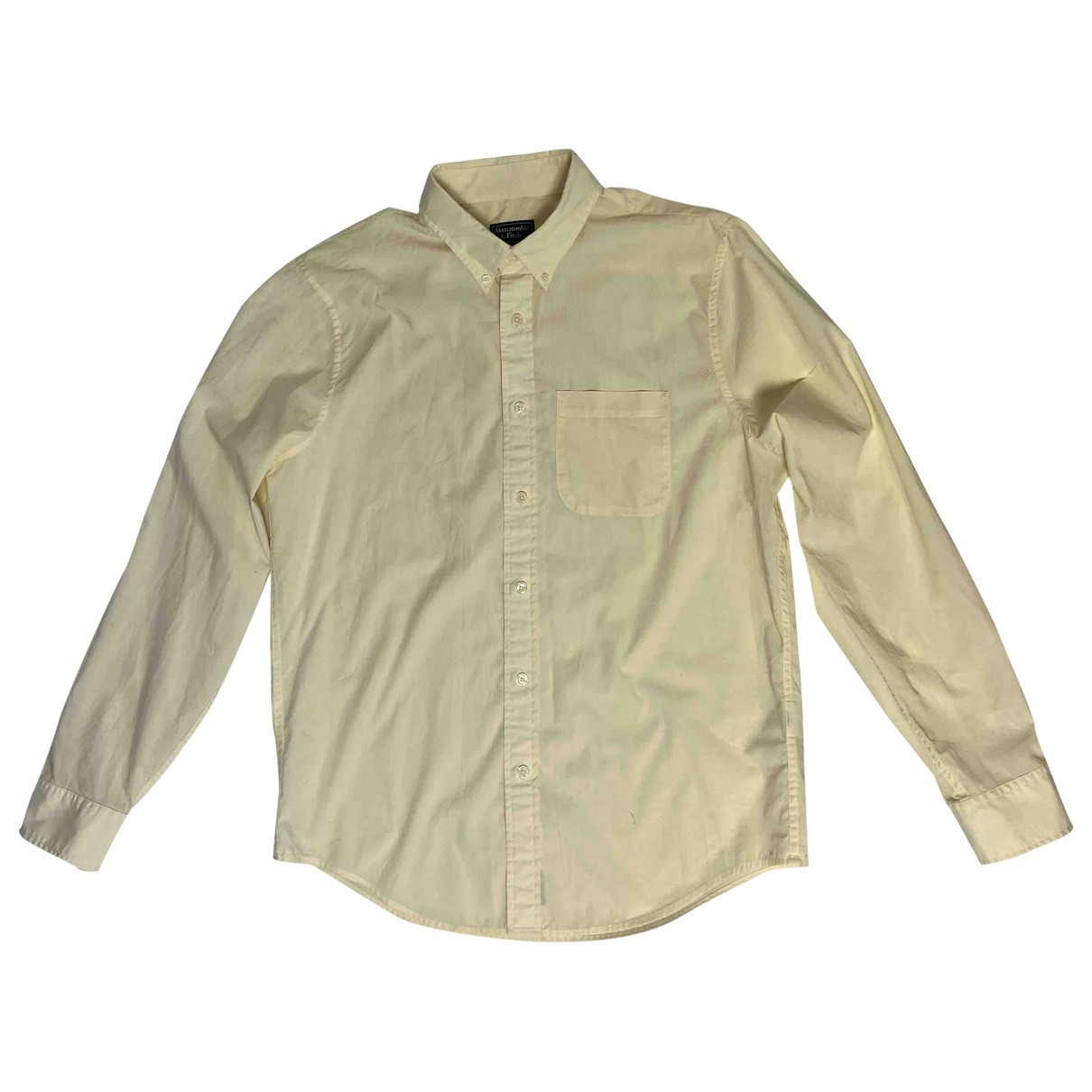 Abercrombie & Fitch \N Yellow Cotton Shirts for Men XL International