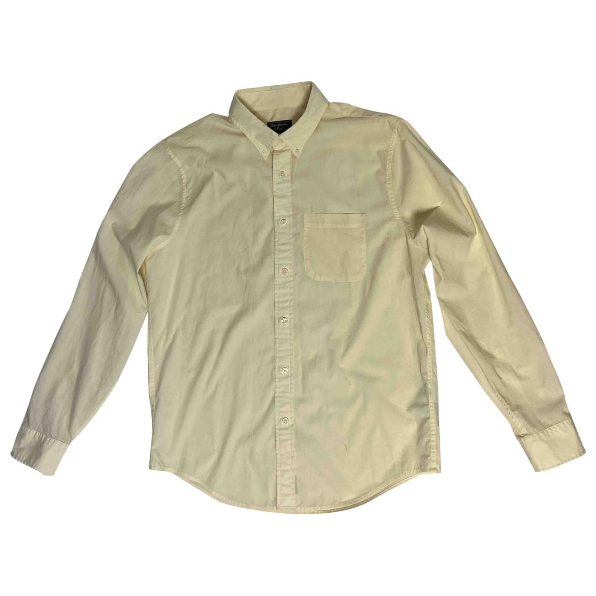 Abercrombie & Fitch - Chemises   pour homme en coton - jaune