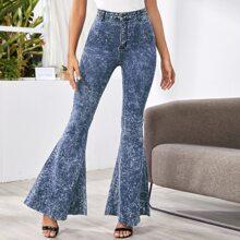 Tie Dye Flare Leg Jeans