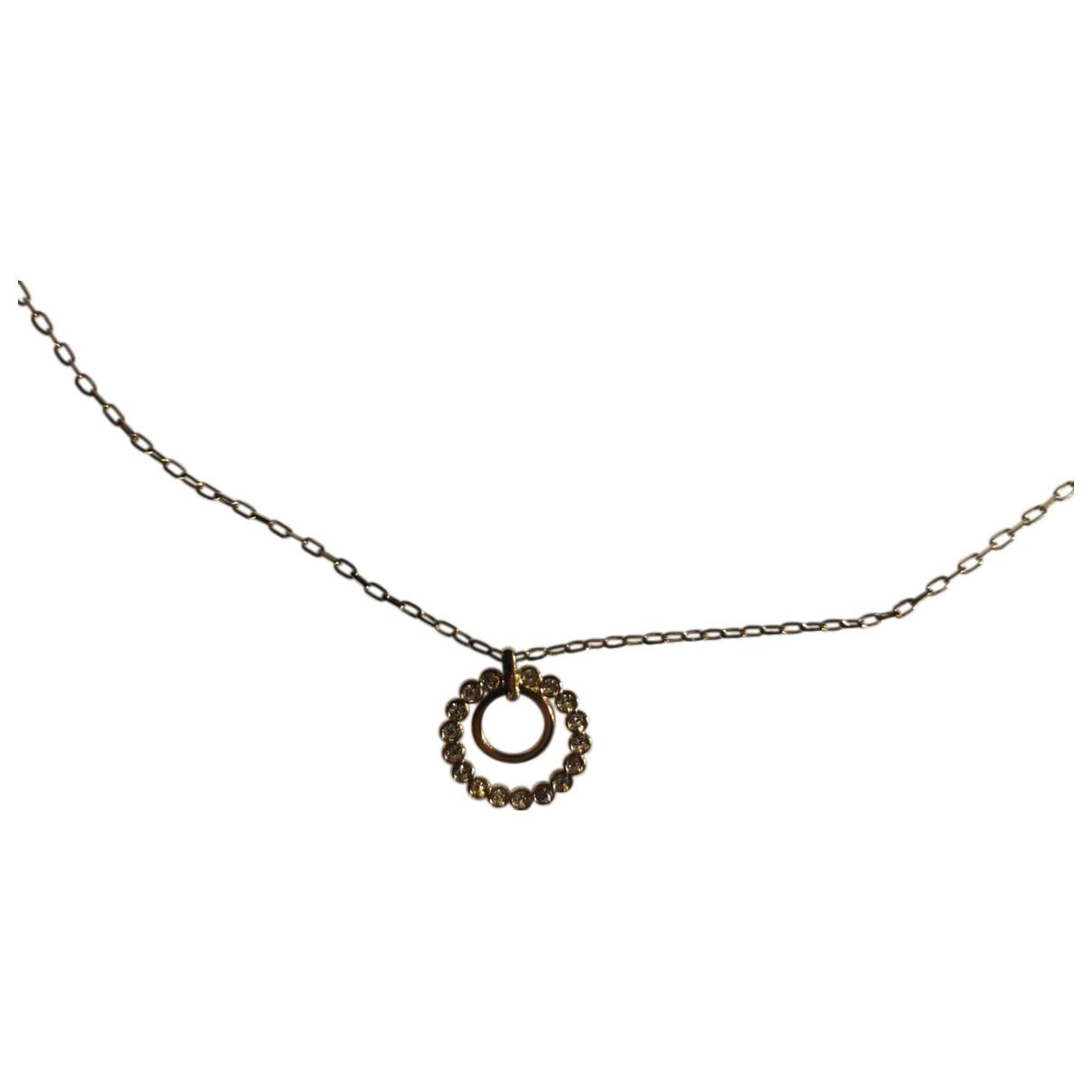 Swarovski \N Kette in  Gold Kristall