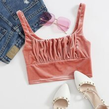Ruched Bust Crop Cami Top