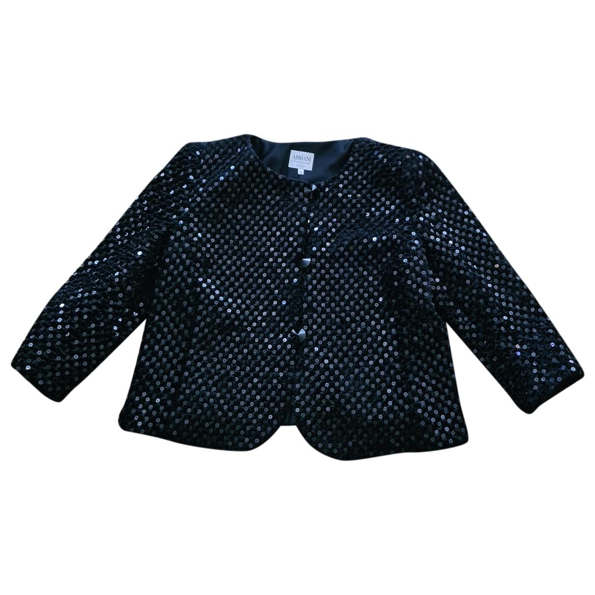 Armani Collezioni \N Black jacket for Women 48 IT