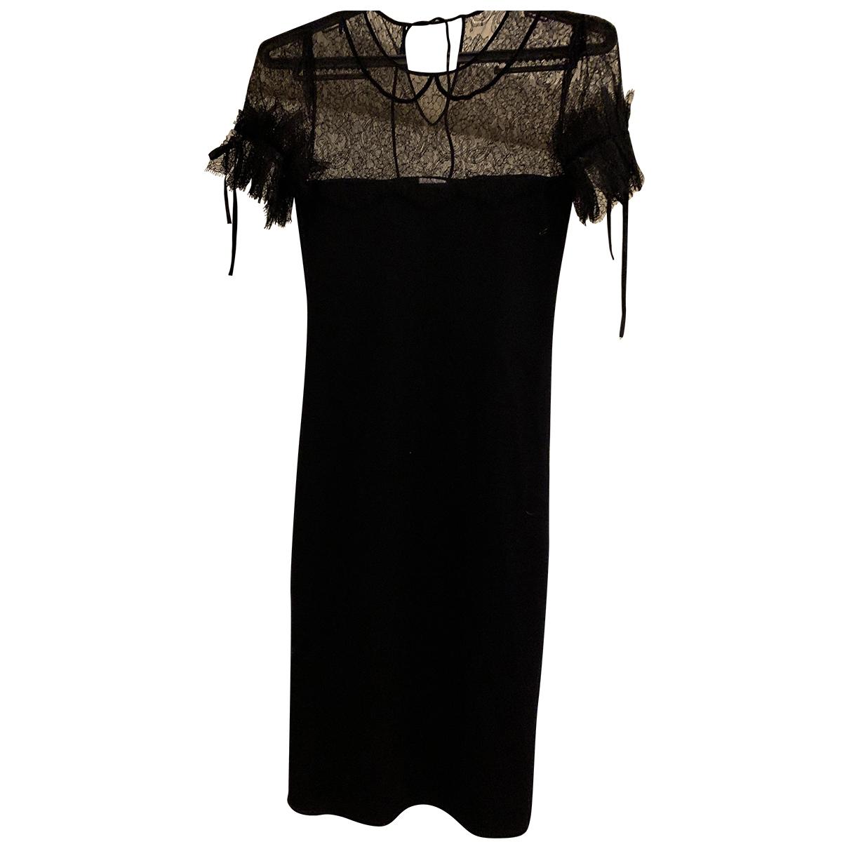 Red Valentino Garavani - Robe   pour femme en laine - noir