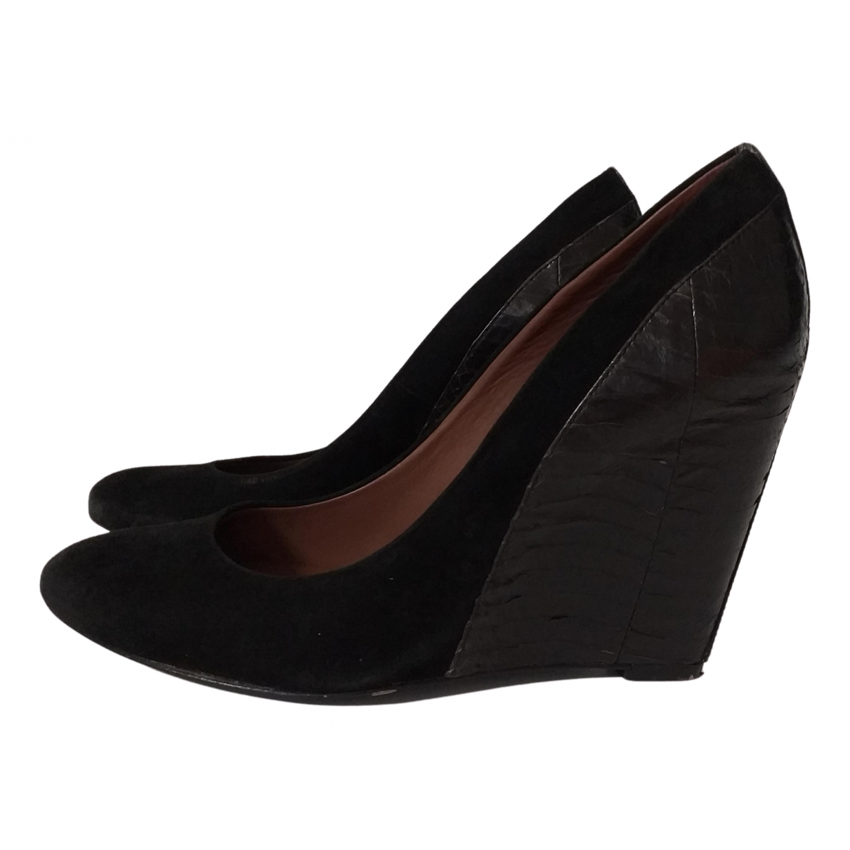 Aerin \N Pumps in  Schwarz Leder