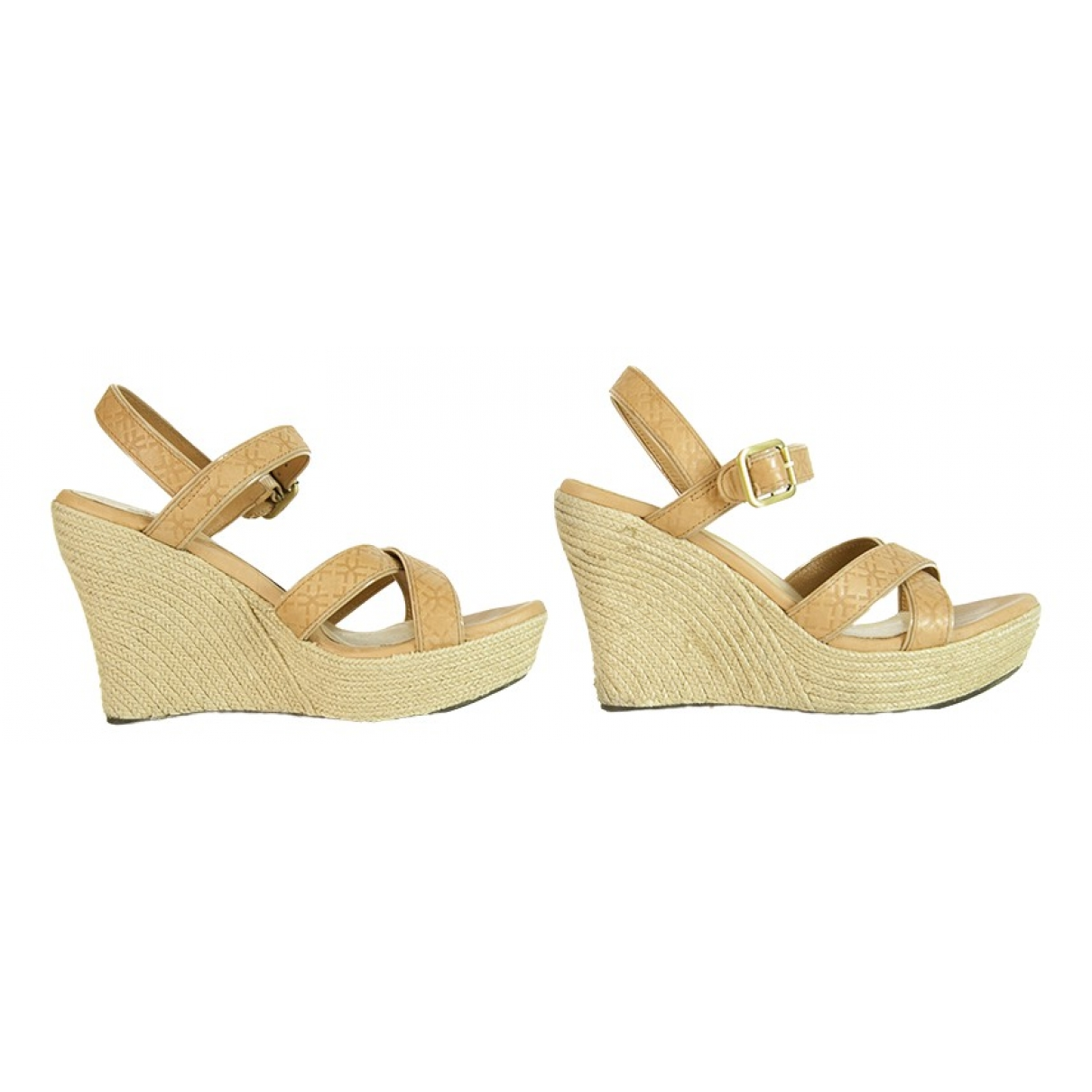 Ugg \N Camel Leather Sandals for Women 40 EU