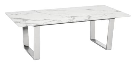 100708 Atlas Coffee Table Stone & Brushed