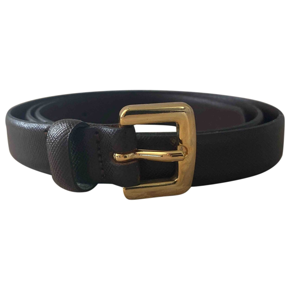 Massimo Dutti \N Brown Leather belt for Women 70 cm