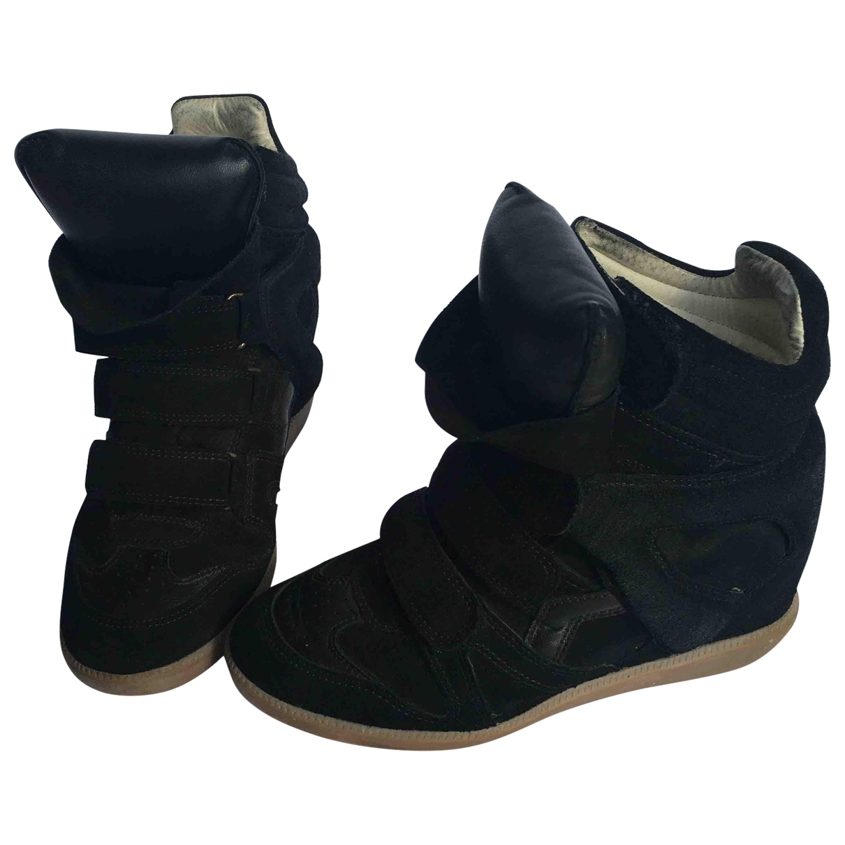 Isabel Marant Beckett Black Leather Trainers for Women 36 EU