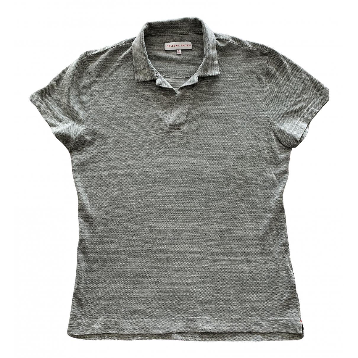 Orlebar Brown - Polos   pour homme en coton - gris