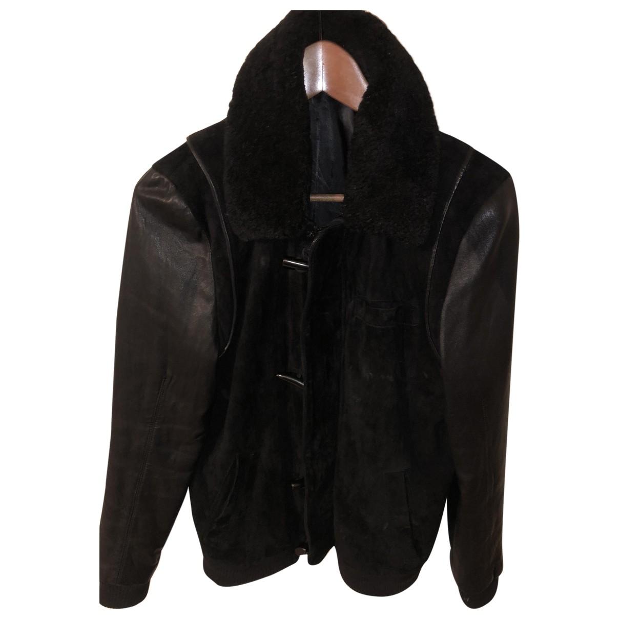 Eleven Paris \N Black Leather jacket  for Men M International