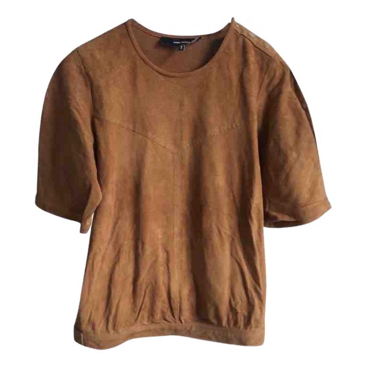 Isabel Marant \N Camel Leather  top for Women 34 FR