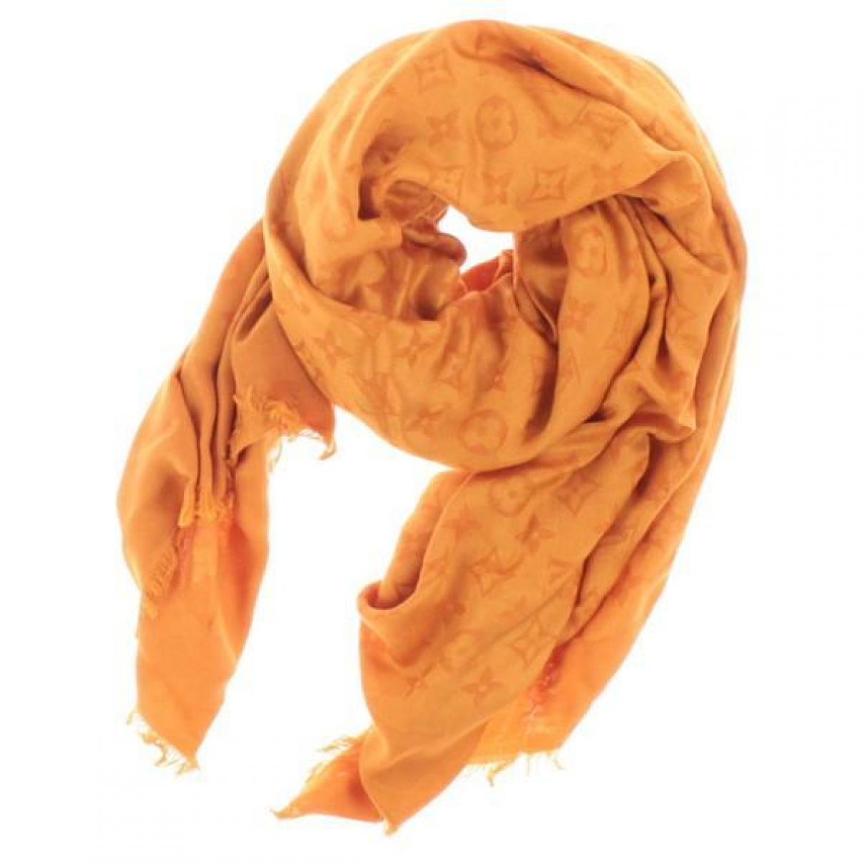 Louis Vuitton - Foulard Chale Monogram pour femme en soie - orange