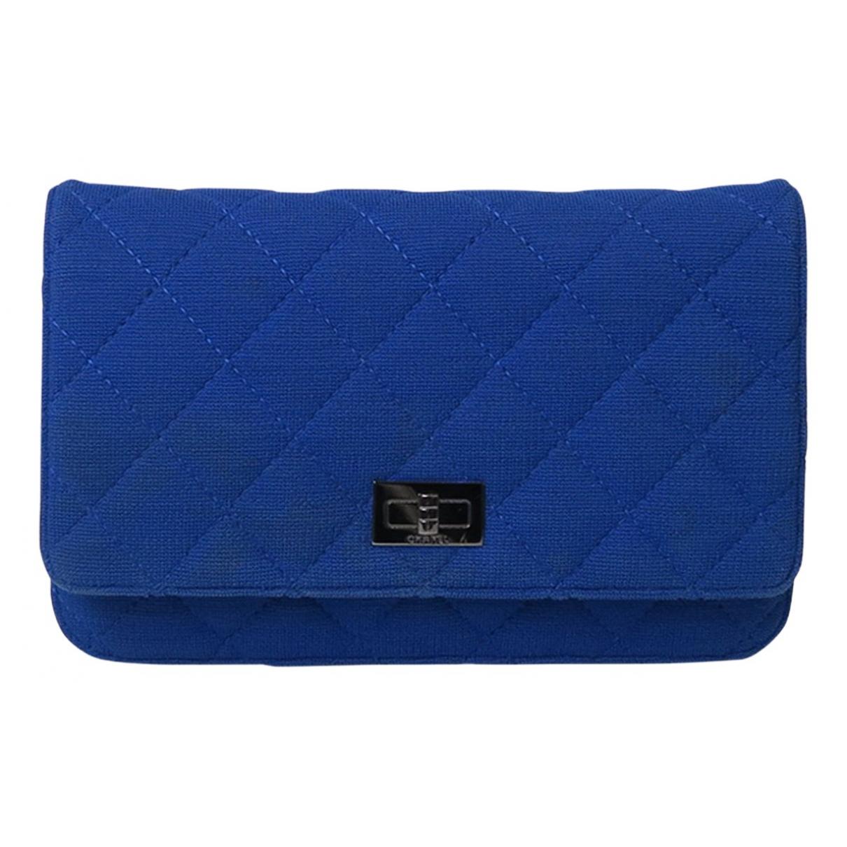 Chanel - Pochette 2.55 pour femme en toile - bleu